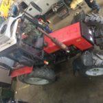 Установленный автокондиционер на трактор